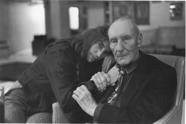 Bull with poet/musician/singer Patti Smith in his NY bunker at 222 Bowery Street.