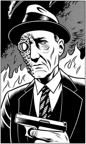 ''Reptilian Burroughs'' by Charles Burns
