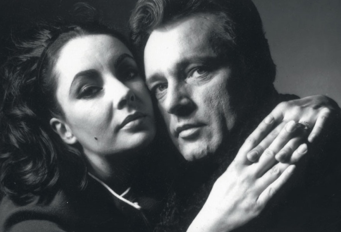 Liz Taylon and Richard Burton by  Bert Stern in 1962.