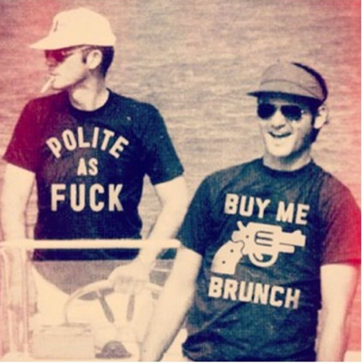 Hunter S Thompson and Bill Murray.