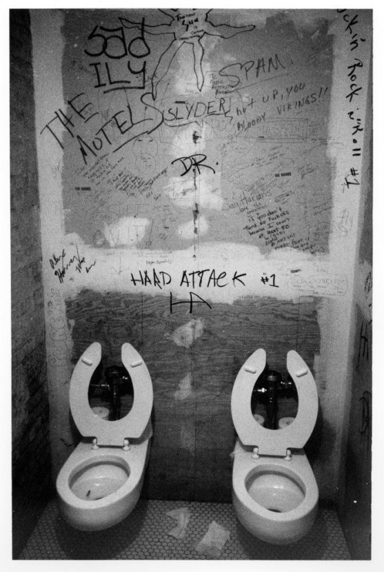 10. The infamous bathroom stalls (1976).