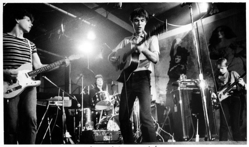 12. The Talking Heads performing (1977).