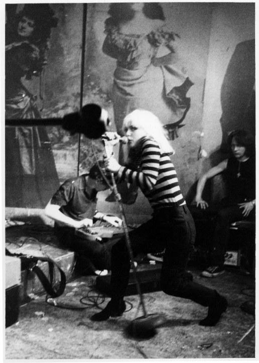 13. Blondie performing (1977).