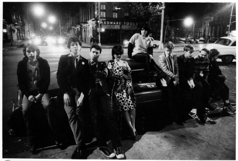 15. No wavers (which was a short-lived subculture for people who rejected the new wave musicart movement), waiting outside the club (1978).