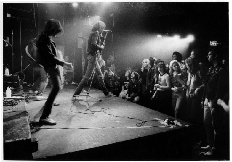 17. The Ramones, who are arguably one of the artists most closely associated with the CBGB, performing (1977).