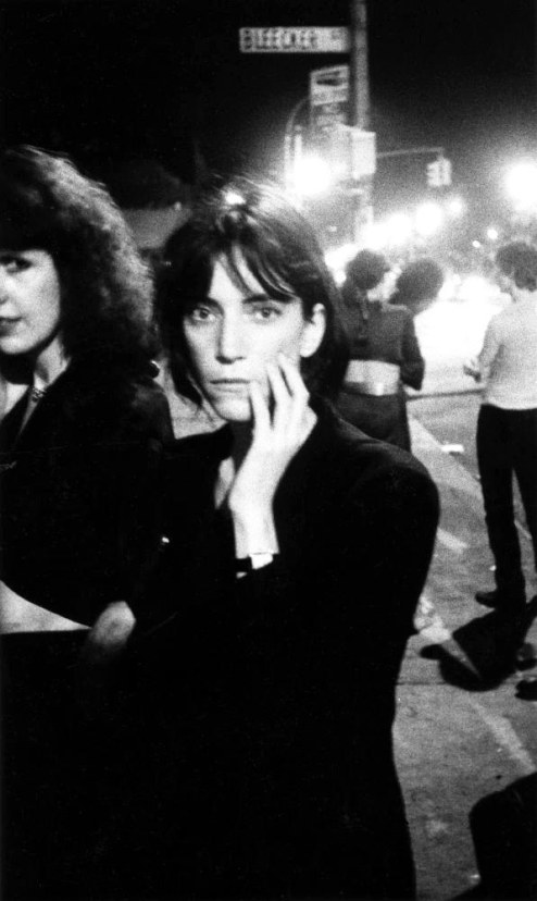 3. Patti Smith, one of the first artists booked to play the club when it opened, arriving (1976).
