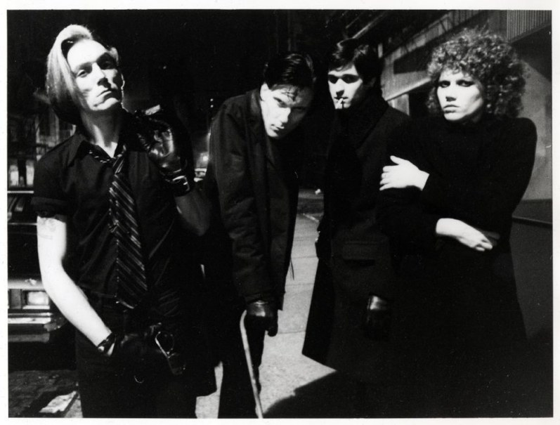 5. Garage punk band The Cramps standing outside the club (1977).