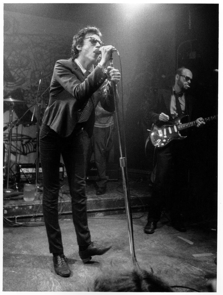 9. Punk innovator Richard Hell performing (1978).
