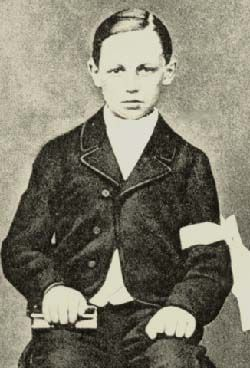 Arthur Rimbaud at the time of his first communion.