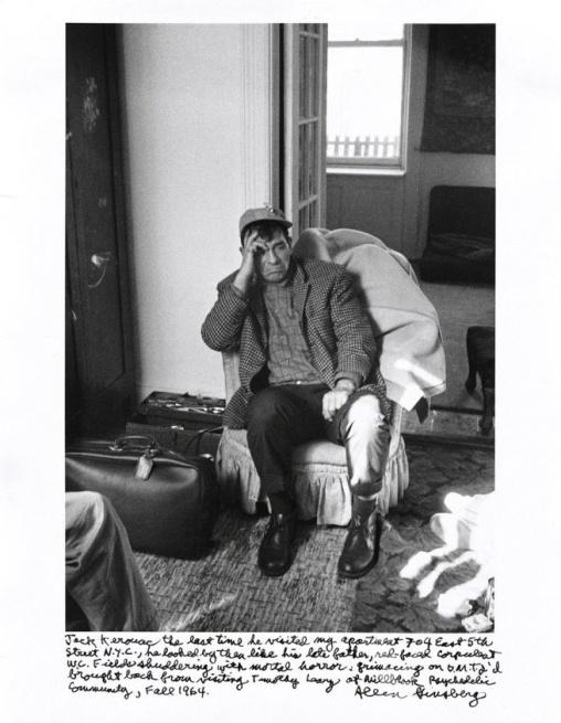 Jack Kerouac. Photo by Allen Ginsberg. 1964.