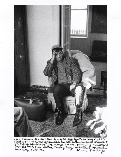 Jack Kerouac. Photo by Allen Ginsberg. 1964.