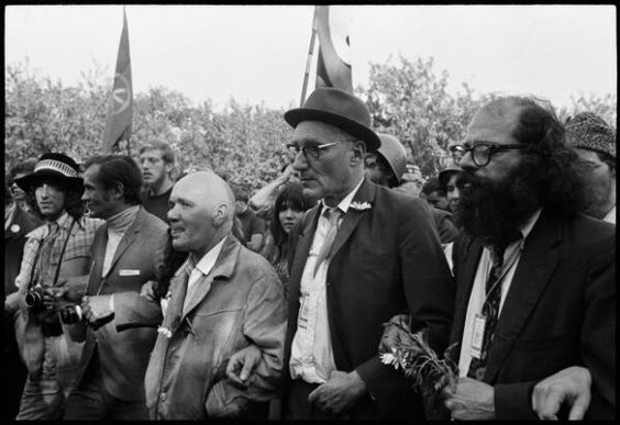 jean-genet-william-s-burroughs-and-allen-ginsberg-march-in-chicago-1968