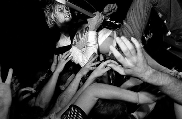 Kurt Cobain in 1991. Photo by Charles Peterson.