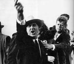 Lyndon Johnson and John F. Kennedy