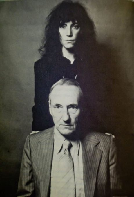 Patti Smith and William S. Burroughs. Photo by Robert Mapplethorpe.