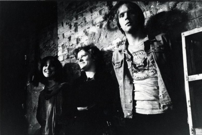 "Roberta Bayley, Mary Harron, John Holmstrom, CBGB. ""All three were essential at the classic Punk Magazine. Roberta Bayley shot the cover of the first Ramones album and also worked the front desk at CBGB's, Mary Harron did the first U.S. piece on the Sex Pistols for Punk and later directed many films including American Psycho, and John Holmstrom founded Punk magazine and still runs the punk empire online.""(Godlis,1977)"