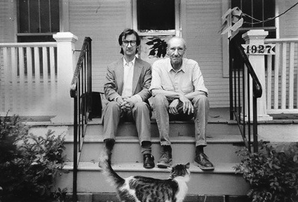 Victor Bockris and William S. Burroughs at WSB's home in Lawrence, Kansas. Photo by James Grauerholz.