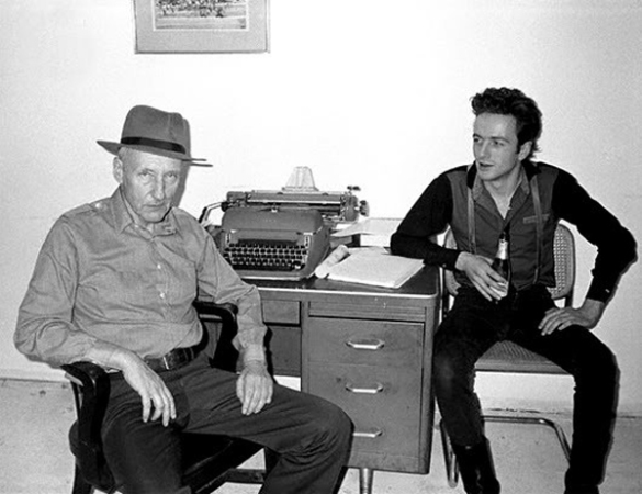 William S. Burroughs and Joe Strummer from The Clash. Photo by Victor Bockris.1980.