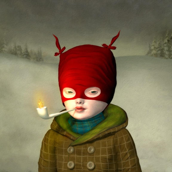 23-little-voyageur-painting-by-ray-caesar