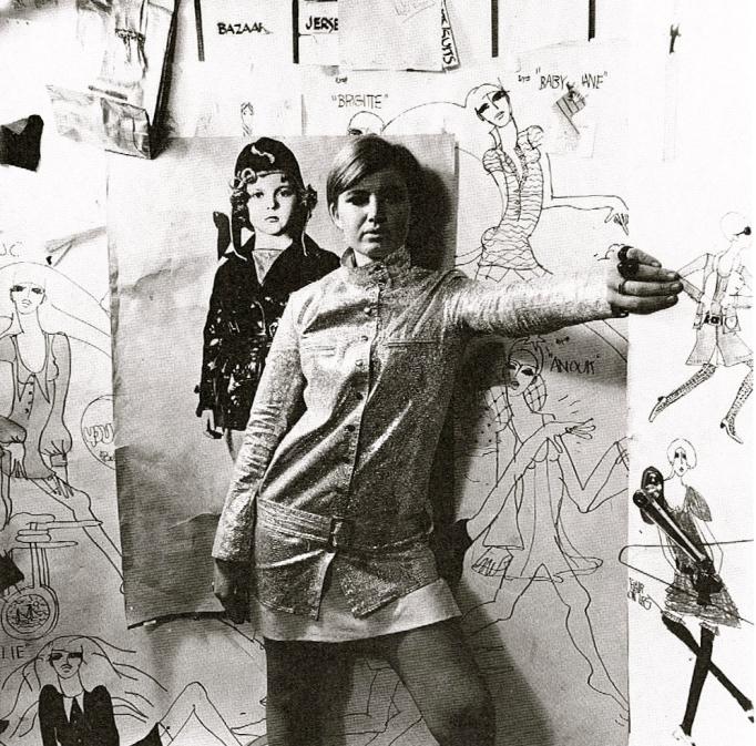 Betsey+Johnson+tinsel+motorcycle+jacket+1966+Paraphernalia+showroom