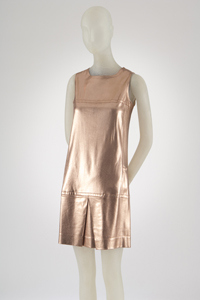 Paraphernalia, dress, copper lamé knit, circa 1967, USA, gift of Mrs. Ulrich Franzen. The Museum at FIT