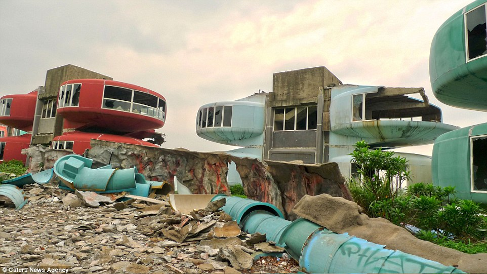 Sanzhi Pod City was built in New Taipei City, Taiwan, in 1978 and designed to be a futuristic holiday resort