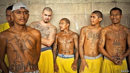 This is what street gangs look like in Nicaragua.