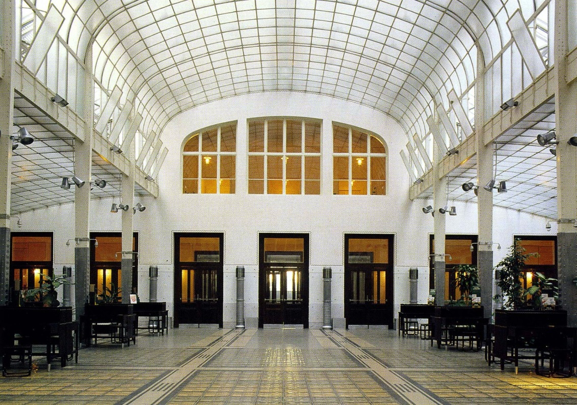 Otto Wagner; lobby Postal Savings Bank