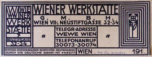 Wiener Werkstätte letterhead with flower motif by Koloman Moser.