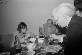 Jagger, Burroughs and Warhol by Marcia Resnick, Conversation