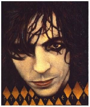 Syd Barrett by George Underwood who was David Bowie's childhood friend. David owns this painting, he is a huge Syd fan.