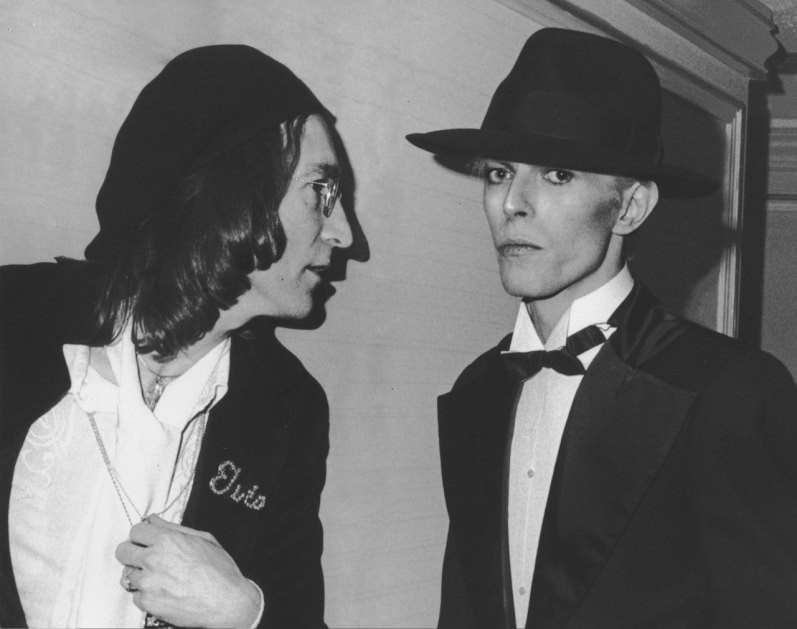 David Bowie and John Lennon
