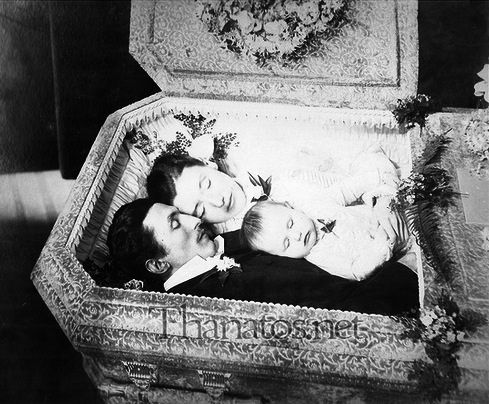 The Keller Family: Emil, Mary, and 9 month old Anna Keller. Mary shot Emil through the heart, mortally wounded Anna, and then committed suicide. Gelatin silver print. Auburn, New York, January 25, 1894.