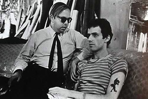 Here with Henry Geldzahler 1966 photo: Stephen Shore