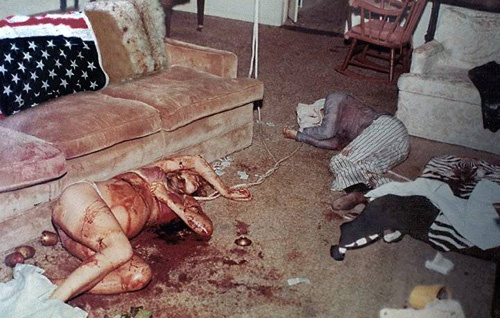 Actual photo of the crime scene of the Sharon Tate murder.
