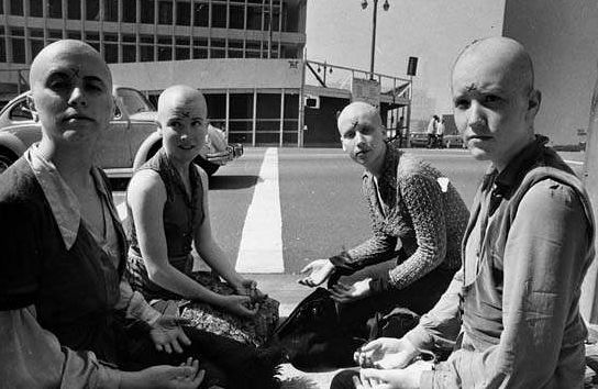 "(Sandra Good), Crystal (Maria Alonzo), and Mary (Mary Theresa Brunner) dubbed ""the girls on the corner"". They shaved their heads along with Manson, Atkins,"