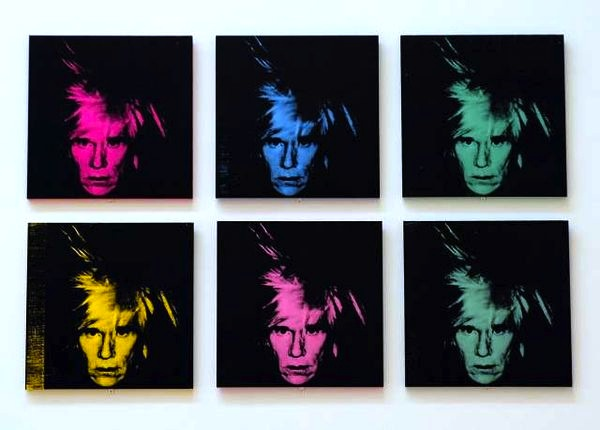 Six Self Portraits by Andy Warhol.