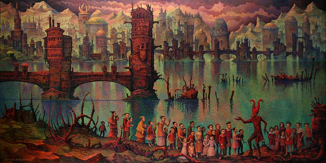 Satan Presenting his City to Children