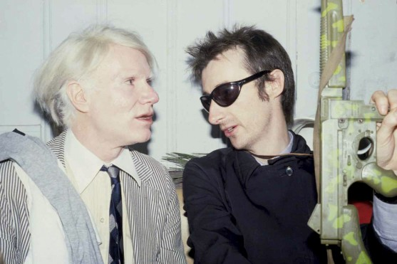 Warhol and Bockris by Marcia Resnick