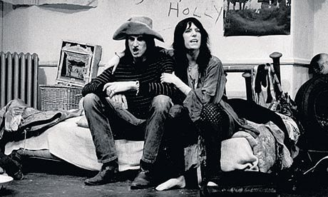 Patti Smith and Sam Shepard in their play, Cowboy Mouth, in New York in 1971