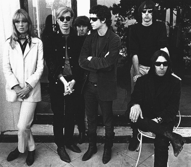 The original formation on the Velvet Underground produced by Andy Warhol in Hollywood 1966 © Gerard Malanga