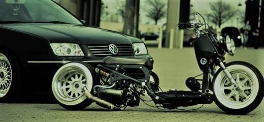 Spiffy Custom Honda Ruckus Loud Alien Noize