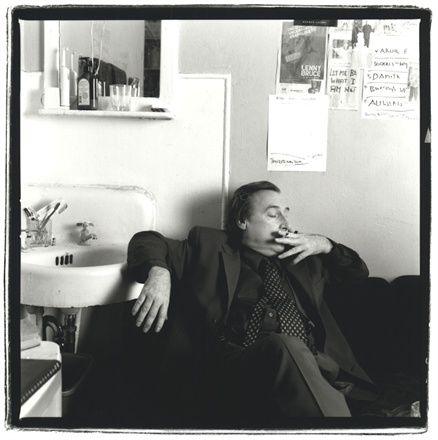 Victor Bockris in his room at the Chelsea Hotel, 2004 Photo© Keith Green