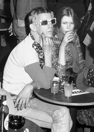 Lou Reed and Barbara Hodes at The Bottom Line, NYC. February 12, 1974. © Bob Gruen