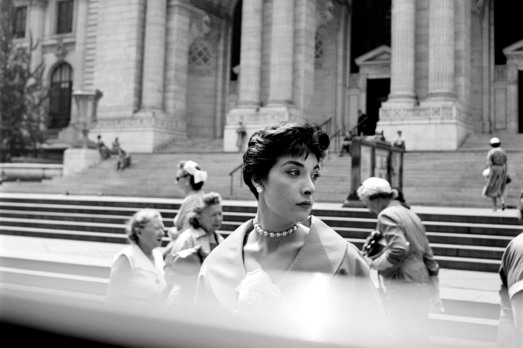 FINDING VIVIAN MAIER - 2014 FILM STILL - Woman at the NY Public Library still - Photo Credit: Vivian Maier/Maloof Collection